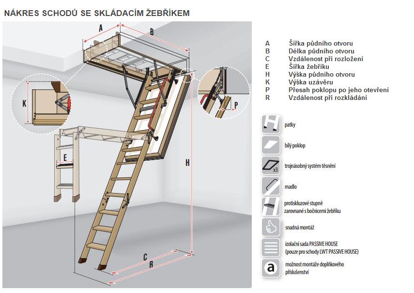Výsledek obrázku pro skládací dřevěné schody